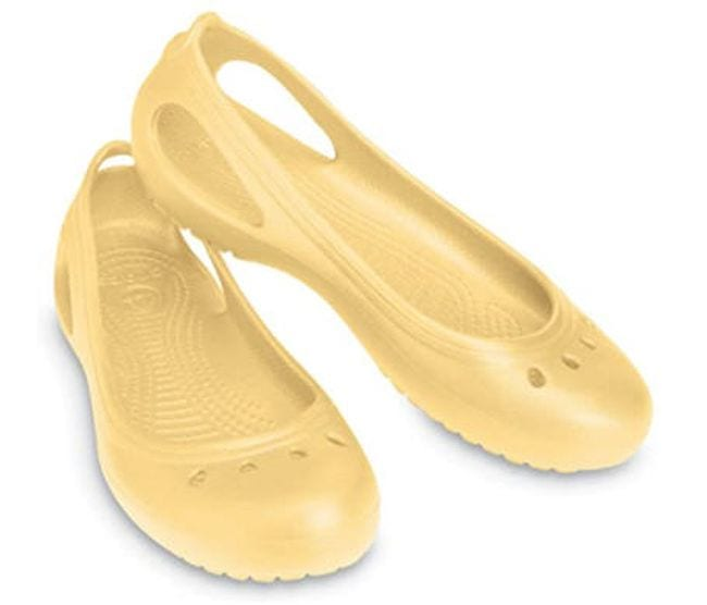 Crocs ballet flats in yellow (Teacher Shoes)