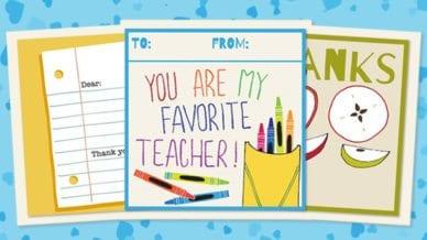 Printable Teacher Thank You Cards For Teacher Appreciation