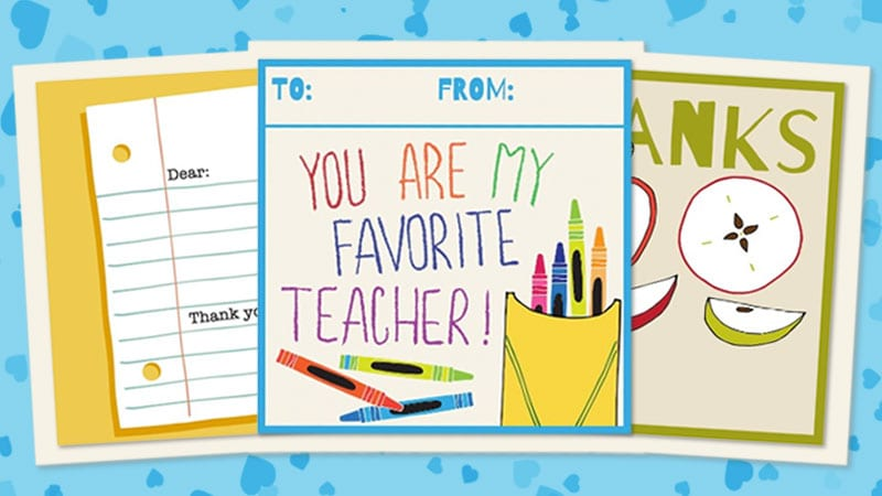picture about Fill in the Blank Thank You Cards Printable named Printable Trainer Thank Yourself Playing cards for Instructor Appreciation