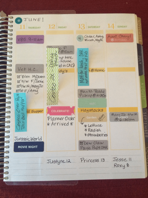 Use sticky notes for unconfirmed dates - 10 Tips for Organizing Your Teacher Planner