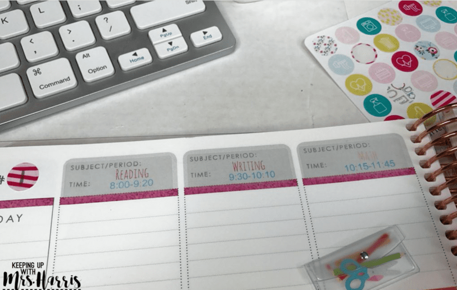 Use clear address labels for lesson planning - 10 Tips for Organizing Your Teacher Planner
