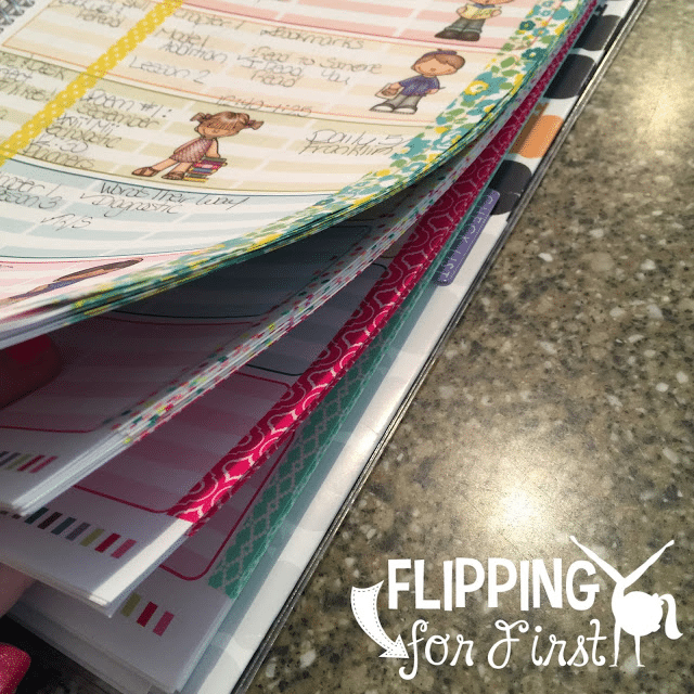 Use washi tape as binding - 10 Tips for Organizing Your Teacher Planner