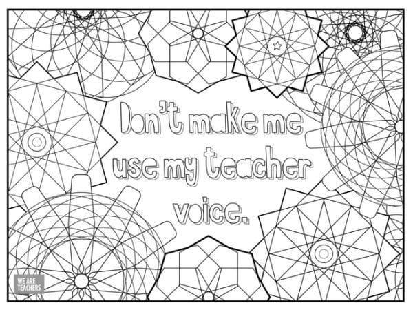 teachers coloring pages 8 Free Adult Coloring Pages for Stressed Out Teachers teachers coloring pages