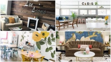 Collage of inspiring teachers' lounges