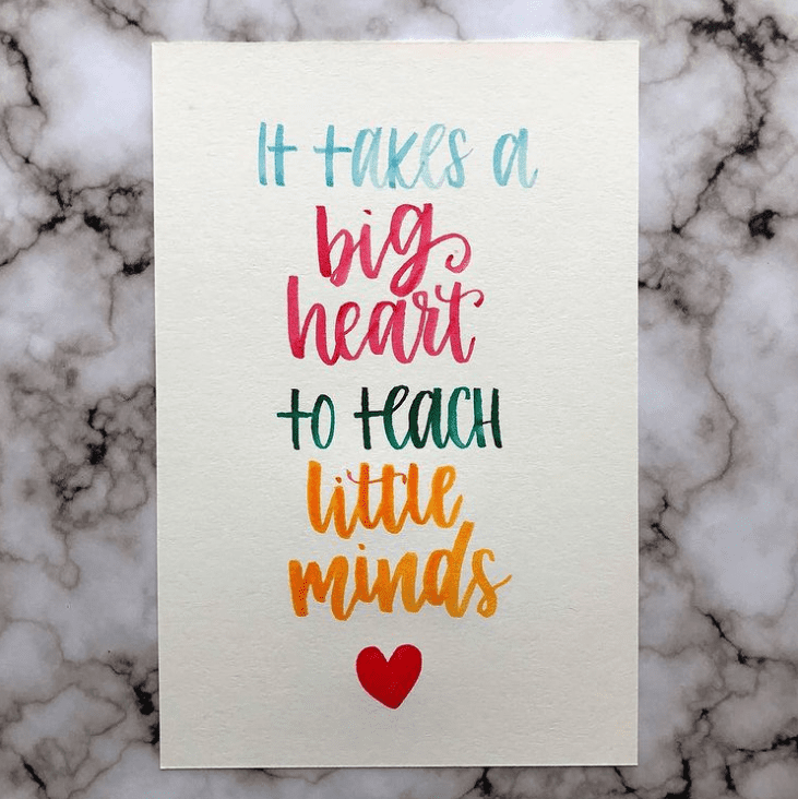 Teachers are some of the biggest hearted people I know -- retirement quotes for teachers