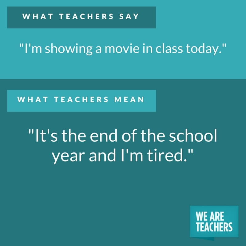 what teachers say about movies