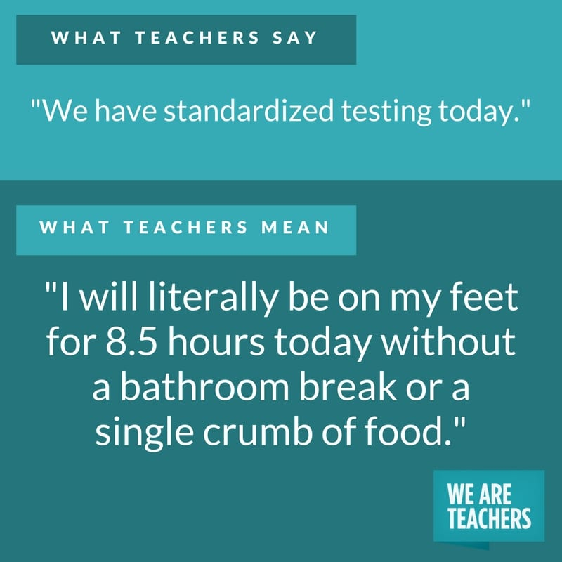 what teachers say about testing
