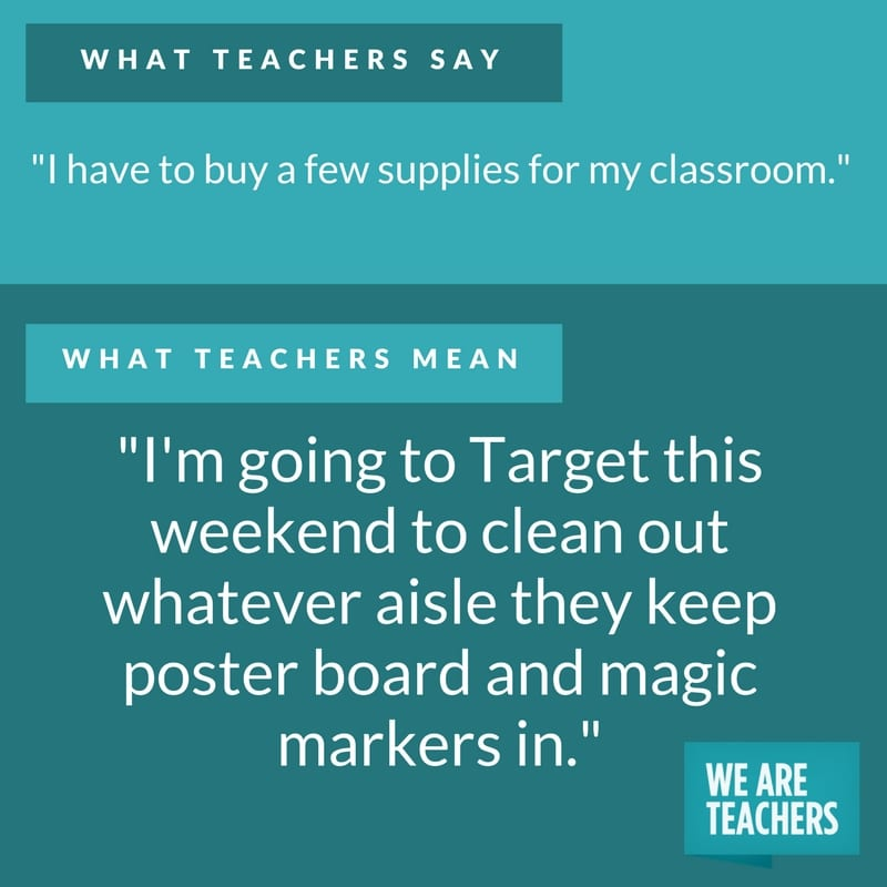 what teachers say about school supplies