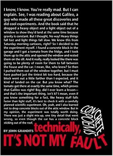 Book cover for Technically, It's Not My Fault, as an example of poetry books for kids