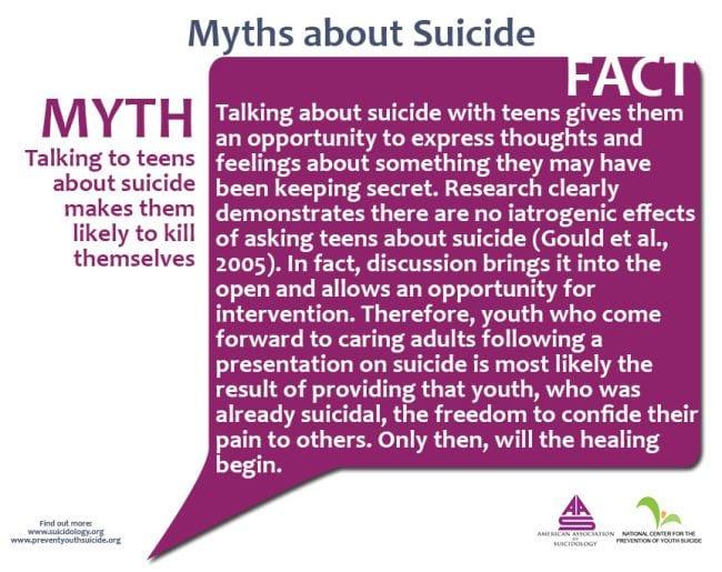 Teen Suicide Myths