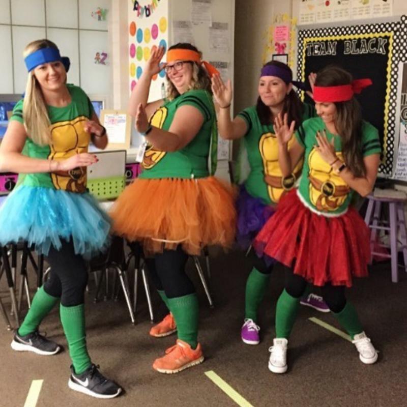 Teenage Mutant Ninja Teachers Halloween Costume for Teachers