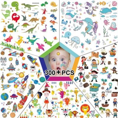 send kids in the mail temporary tattoos