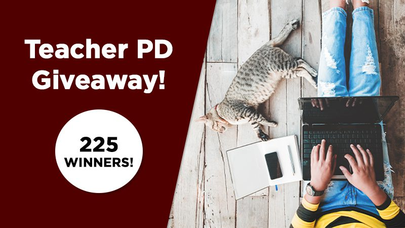 Win All of the Teacher PD You Need for an Entire Year!