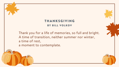 Thanksgiving Poems for the classroom