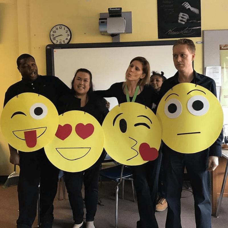 The Emoji Keyboard costume for teachers for Halloween