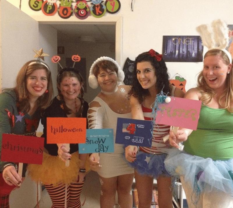 The Seasons Halloween Costume for Teachers