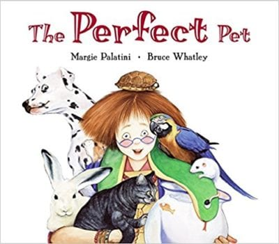Book cover for The Perfect Pet as an example of opinion writing mentor texts