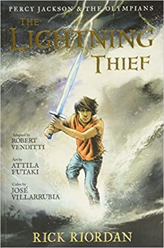 Book cover for The Lightning Thief The Graphic Novel