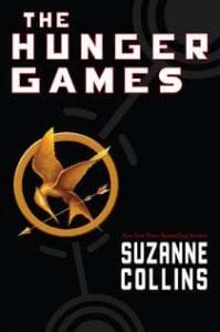 The Hunger Games book cover--middle school books