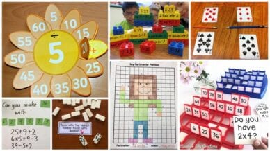 Collage of Third Grade Math Games