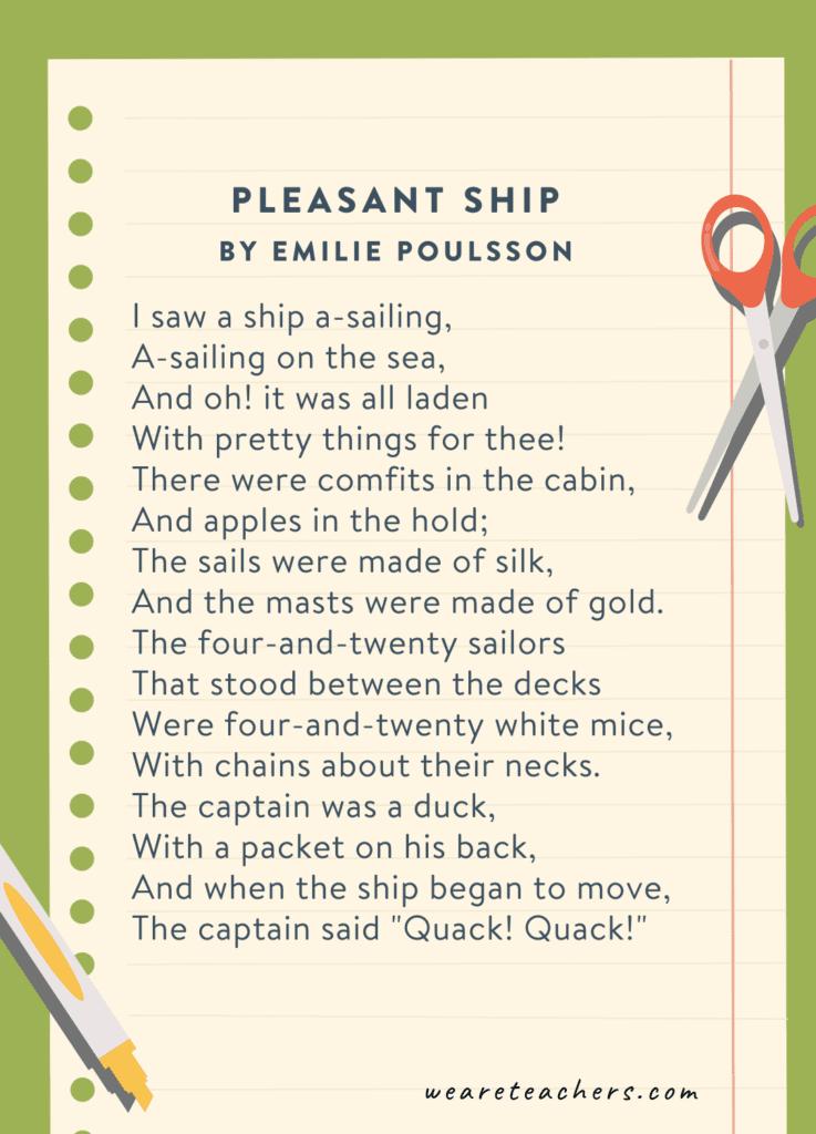 Pleasant Ship by Emilie Poulsson
