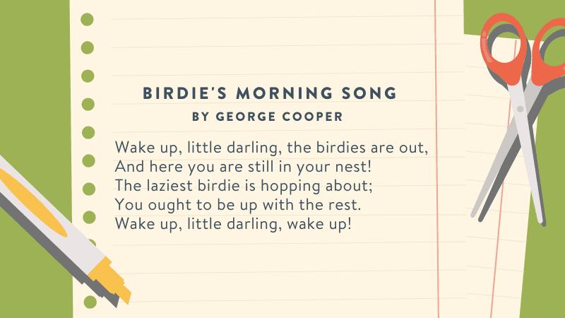 Third Grade Poems-Birdie's Morning Song