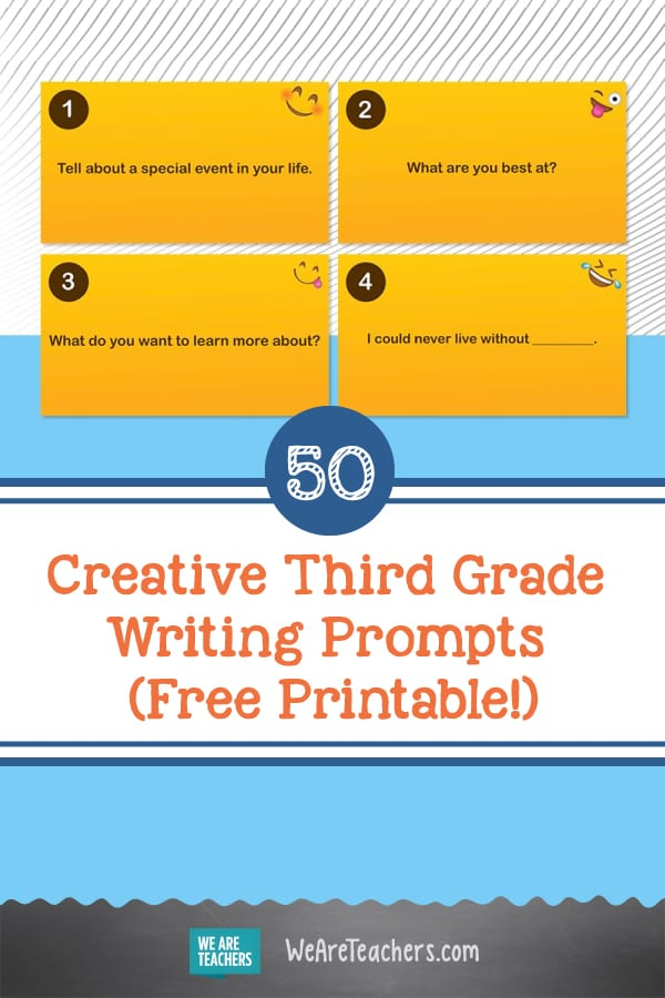 50 Creative Third Grade Writing Prompts (Free Printable!)