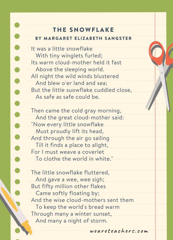 The Snowflake by Margaret Elizabeth Sangster