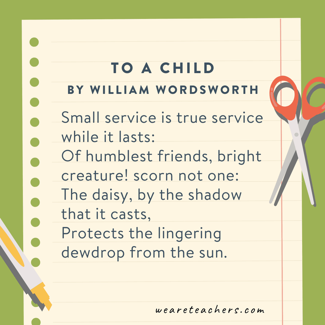 To a Child by William Wordsworth