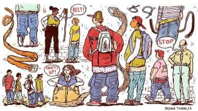 illustration of saggy pants