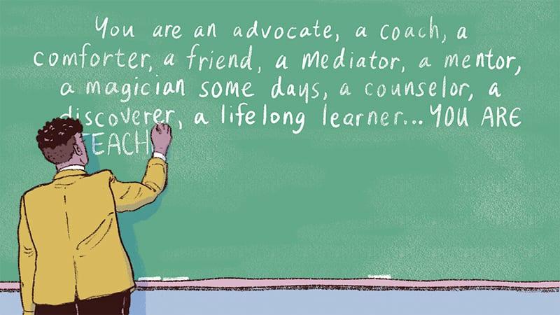 Illustration on Leaving Teaching - Lifelong Learner