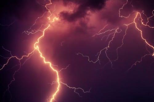 lightning across a dark sky