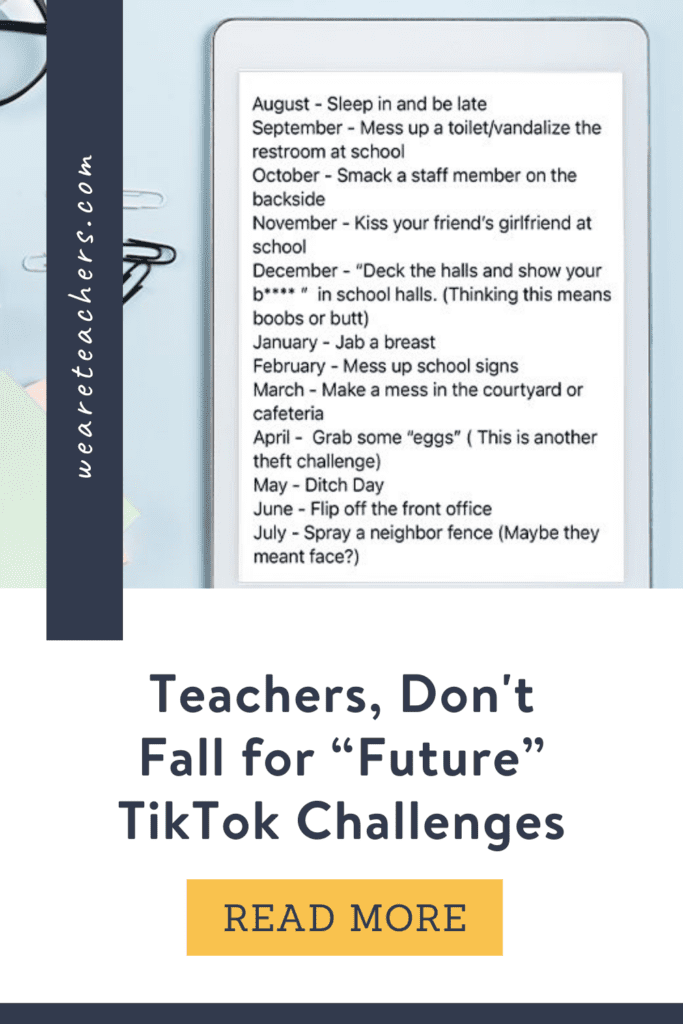 """Teachers, We Have Got To Stop Falling for """"Future"""" TikTok Challenges"""