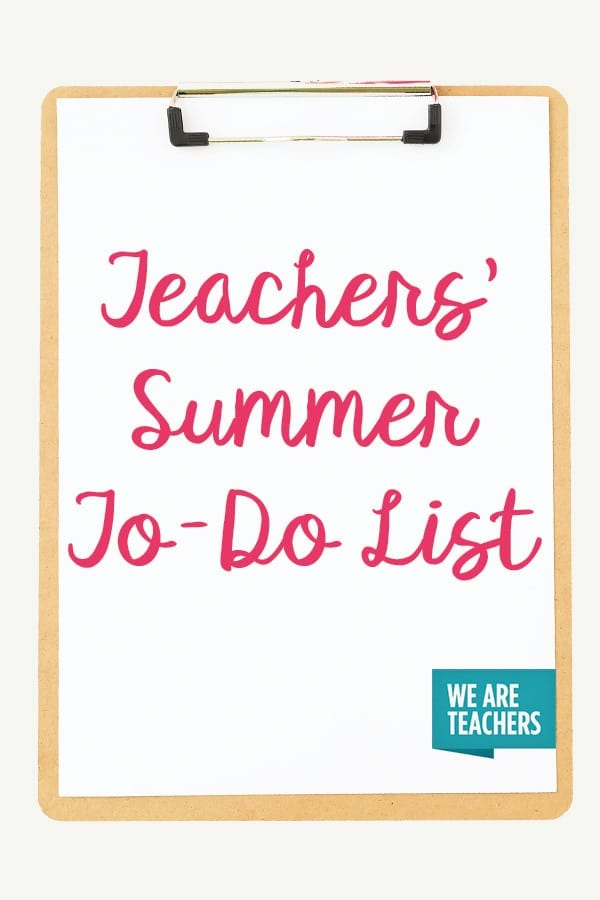The Big, Fabulous Summer Bucket List for Teachers