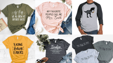 Roundup on best teacher tshirt on Etsy