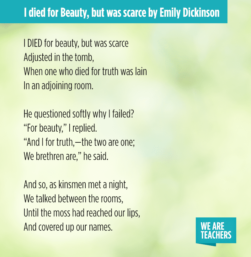 emily dickinson poem titles