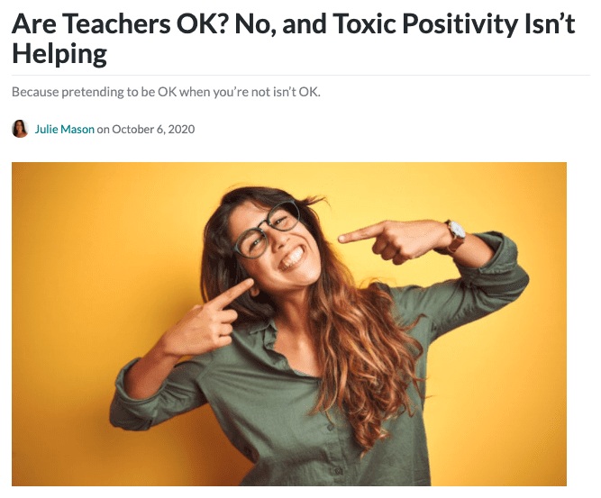 Toxic Positivity header image.
