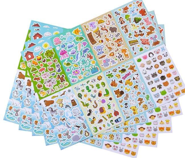 Treasure Box Animal Stickers