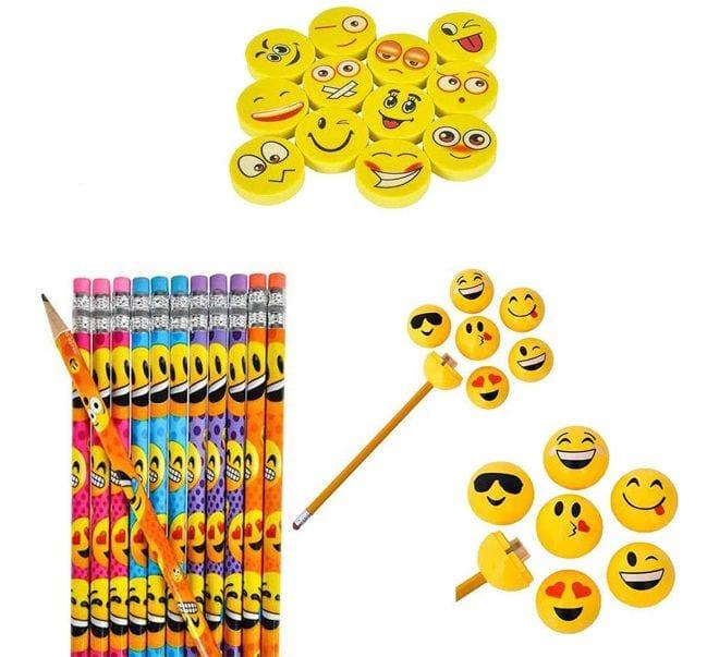 Treasure Box Emoji Pencils