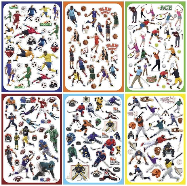 Treasure Box Sports Stickers