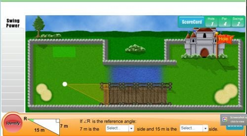 Trigonomety Golf Learn Alberta - The Best Online Interactive Math Games