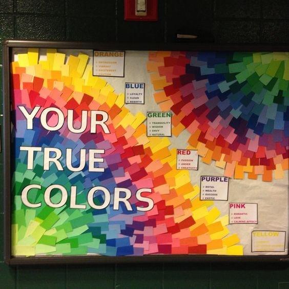 True colors rainbow theme for classroom