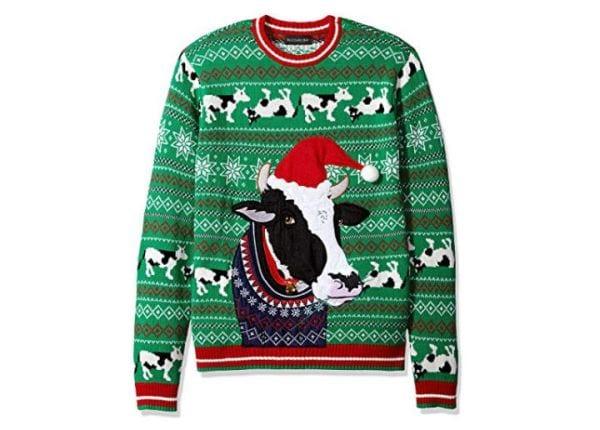 Ugly Christmas Sweaters Teachers Cow Amazon