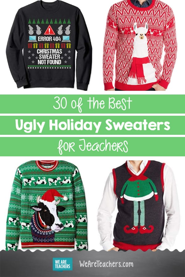 30 of the Best Ugly Holiday Sweaters for Teachers