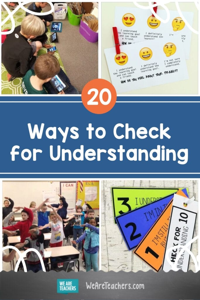 20 Creative Ways to Check for Understanding