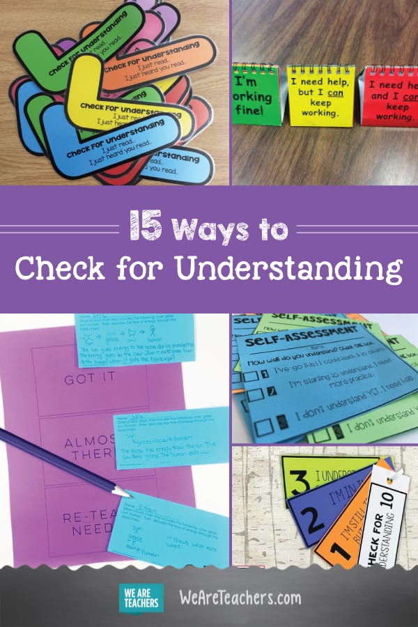 15 Ways to Check for Understanding