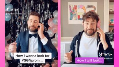 John Krasinski online prom