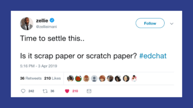 Is it Scratch Paper or Scrap Paper?