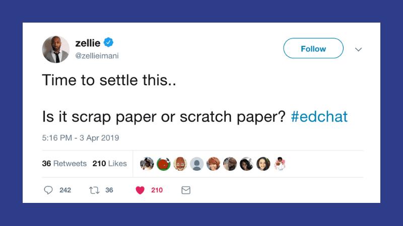 Is it Scratch Paper or Scrap Paper?
