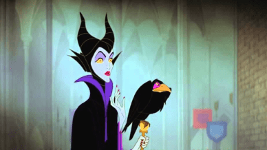 Disney's Maleficent with her crow
